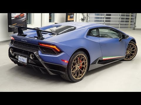 Delivery of a 2018 Lamborghini Huracán LP640-4 Performante in Blu Grifo!!!