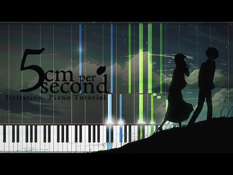 Shousou (Irritation) - 5 Centimeters per Second OST (Piano Tutorial) [Synthesia] ▶ Arr. by Pikasfed