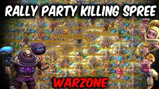 Rally Party Vs Billion Mights   Killing Spree Kingdom 536 Warzone   Sugar, LH, KW,SKY   Lords Mobile