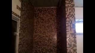 Баня-душевая мозайка,пол плитка в шахматном порядке.(, 2015-04-11T13:39:24.000Z)