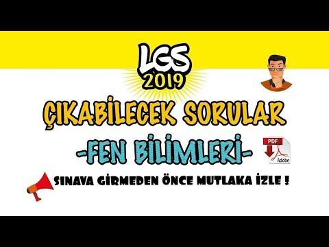 LGS 2019 ÇIKABİLECEK SORULAR / FEN BİLİMLERİ