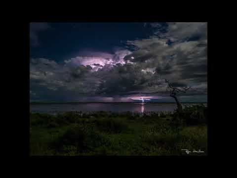 Thunderstorm over the Chobe River, Botswana