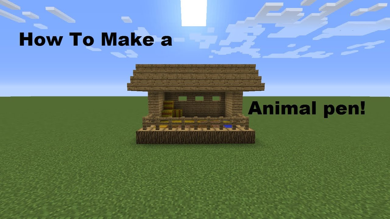 Minecraft How To Make A Animal Pen YouTube