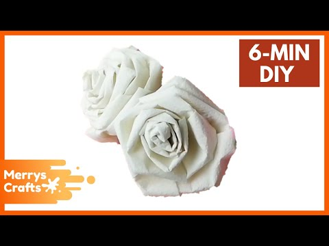 How To Make Flower Rose With Toilet Paper / Tissue Paper - DIY Paper Craft Origami