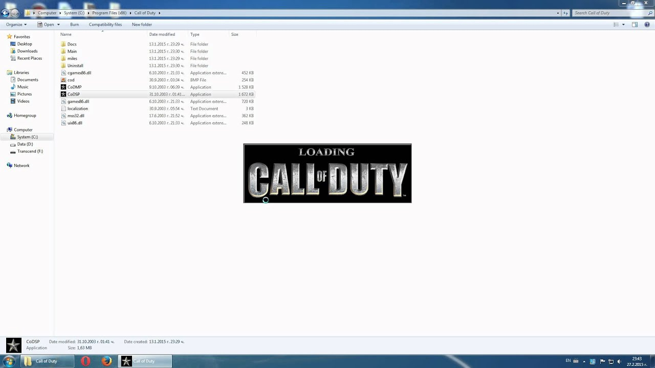 call of duty 1 free download for windows 7 32 bit