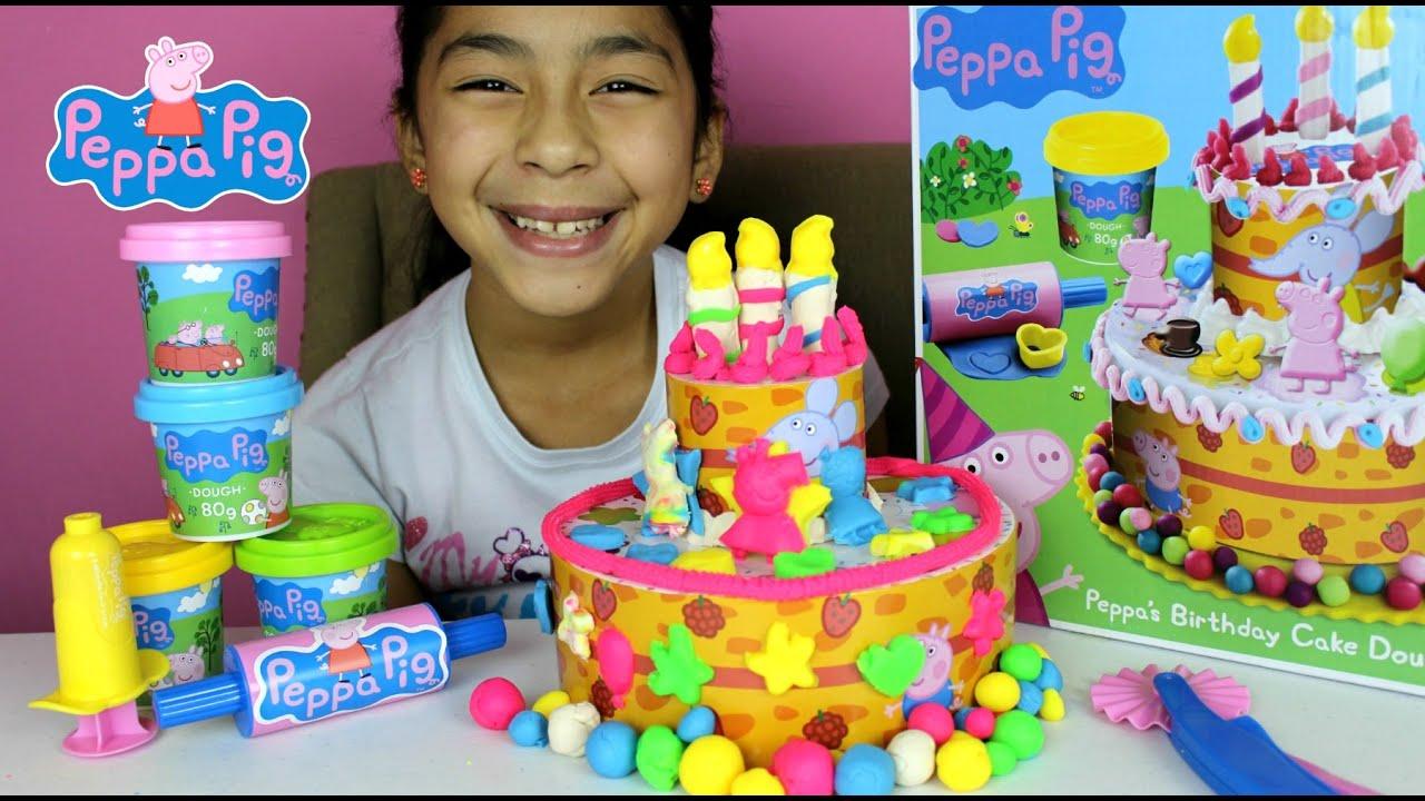 Tuesday Play Doh Peppa Pig Cake Peppa S Birthday Dough Set B2cutecupcakes Youtube