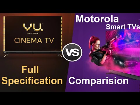 VU Cinema TV vs Motorola Smart TV Full Specification Comparison | #VuCinemaTV #VuCinemaTVVS