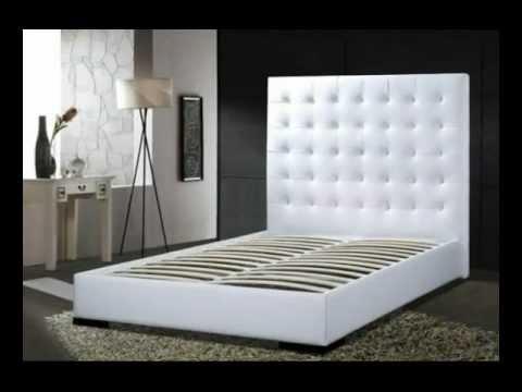 delano leather tufted platform bed, Headboard designs