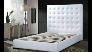 Delano Leather Tufted Platform Bed