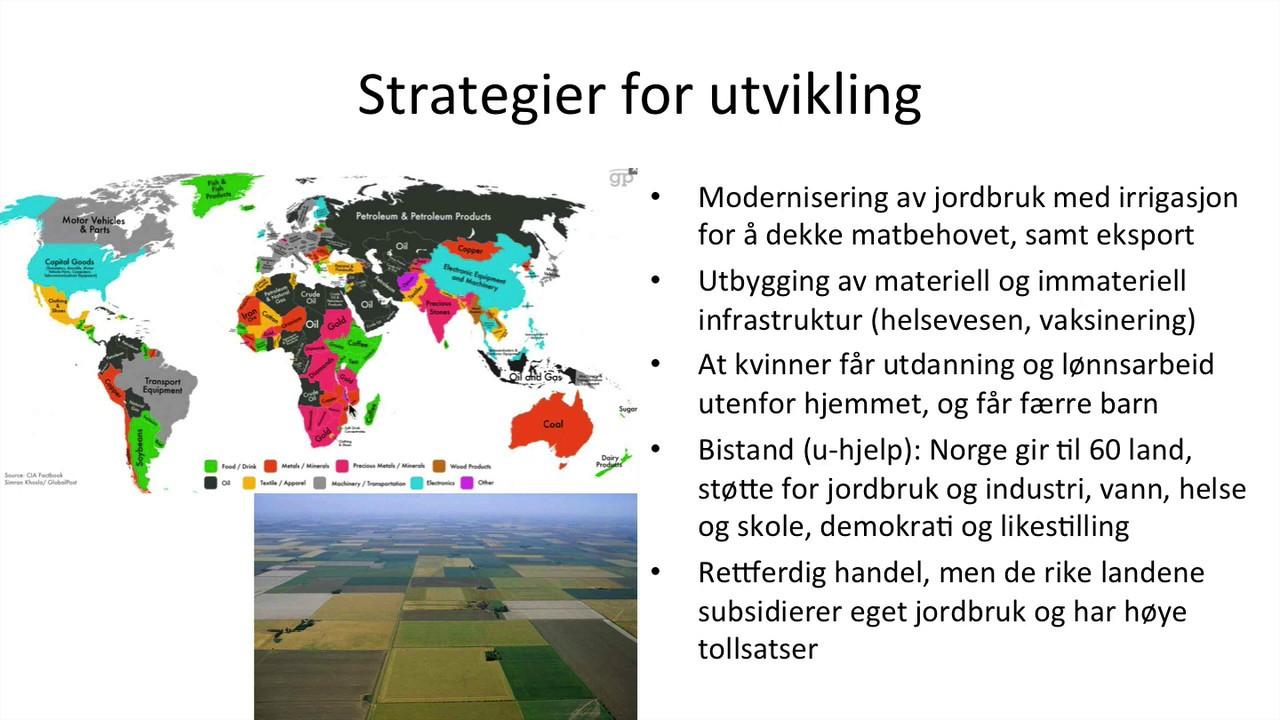 Geografi - Globale skiller i fordeling og levevilkår