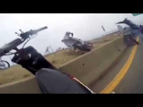 Dirt Bikers trapped by Boston Police on Route 93 south