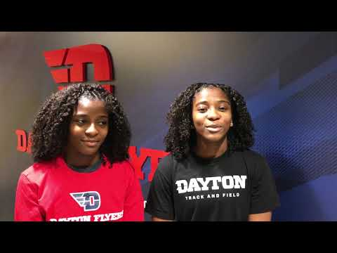 Meet Dayton Track and Field's Johnson twins, Gabbie and Malana!