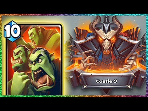 Castle Crush CASTLE 9 + ORC HORDE!! - Is The New Card Good?