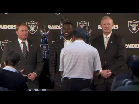 Oakland Raiders introduce Antonio Brown at press conference