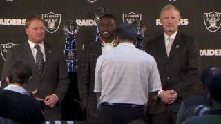 Oakland Raiders introduce Antonio Brown at press conference