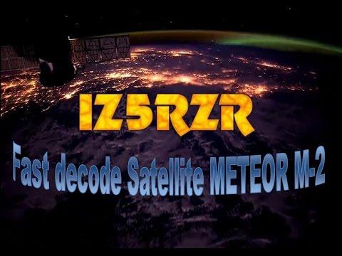 IZ5RZR - Fast decode Meteor M2 satellite - 2015