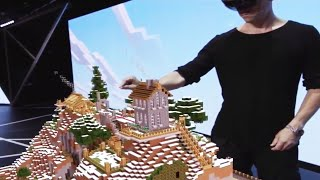 Minecraft HoloLens Full Gameplay E3 2015 (Microsoft Press Conference) (Xbox one/pc) HD