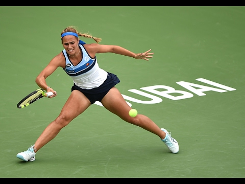 2017 Dubai Duty Free Tennis Championships First Round   Monica Puig vs Shvedova   WTA Highlights