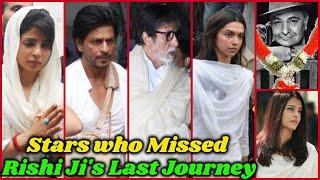 Big Bollywood Stars Who Missed Rishi Kapoor