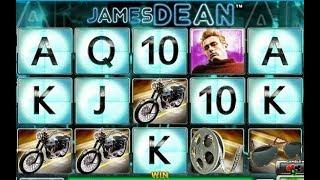 Jeu de casino en ligne JAMES DEAN offrant plusieurs bonus.