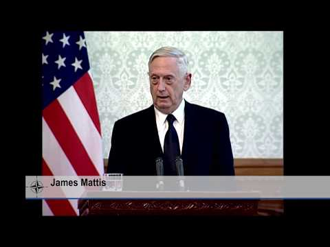 U.S. Secretary of Defense at joint press conference in Kabul, Afghanistan, 27 SEP 2017