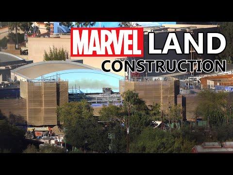 Marvel Superhero Land Construction Bird's-eye View At Disney California Adventure