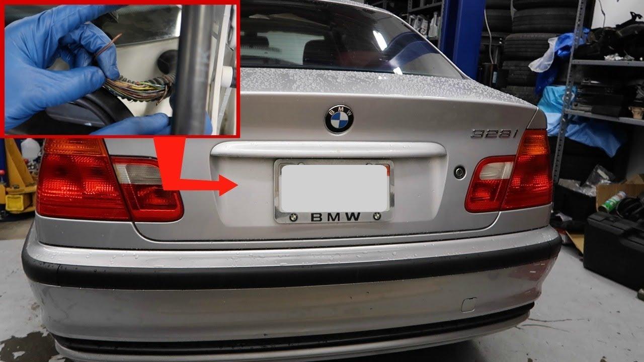 BMW E46 Trunk Wiring Fix! Trunk buttonReversePlate