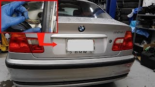 BMW E46 Trunk Wiring Fix! Trunk button/Reverse/Plate Lights NOT WORKING!
