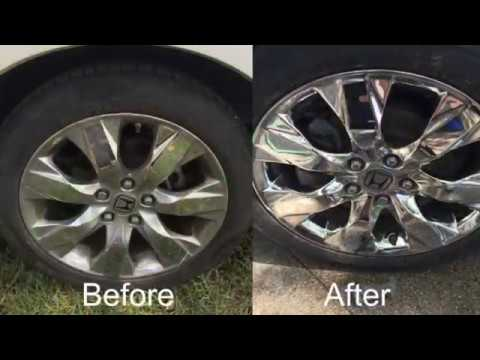 HOW TO CLEAN AND POLISH CHROME RIMS!!