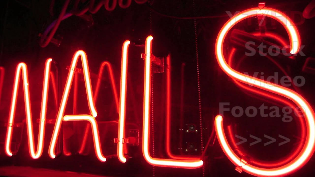 Nail Salon Spa & Nails Neon Light Signs to Advertise Local Business ...