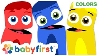Color Collection: Red Blue & Yellow | Learn Colors & Songs w Color Crew for toddlers | Baby First TV