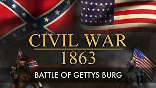 The Battle of Gettysburg - American Civil War. - Full Documentary