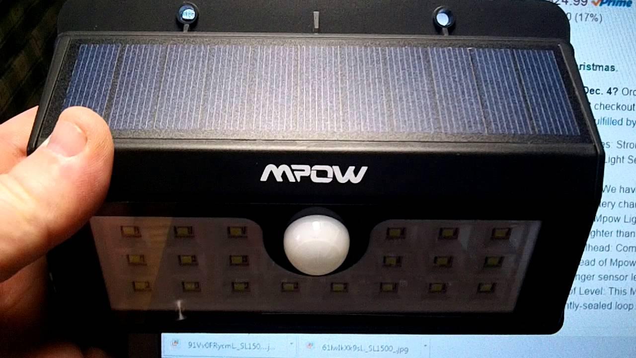 Mpow Super Bright 20 Led Solar Powered Youtube