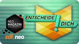 """""""Entscheide Dich!"""" mit Roger Willemsen - NEO MAGAZIN mit Jan Böhmermann - ZDFneo"""