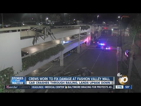 Crews work to fix damage at Fashion Valley Mall