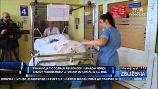 Ewakuacja pacjentów oddziału szpitala