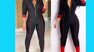 Winter Fashion Women Jumpsuits Clothes / Jamaican Flight Attendant