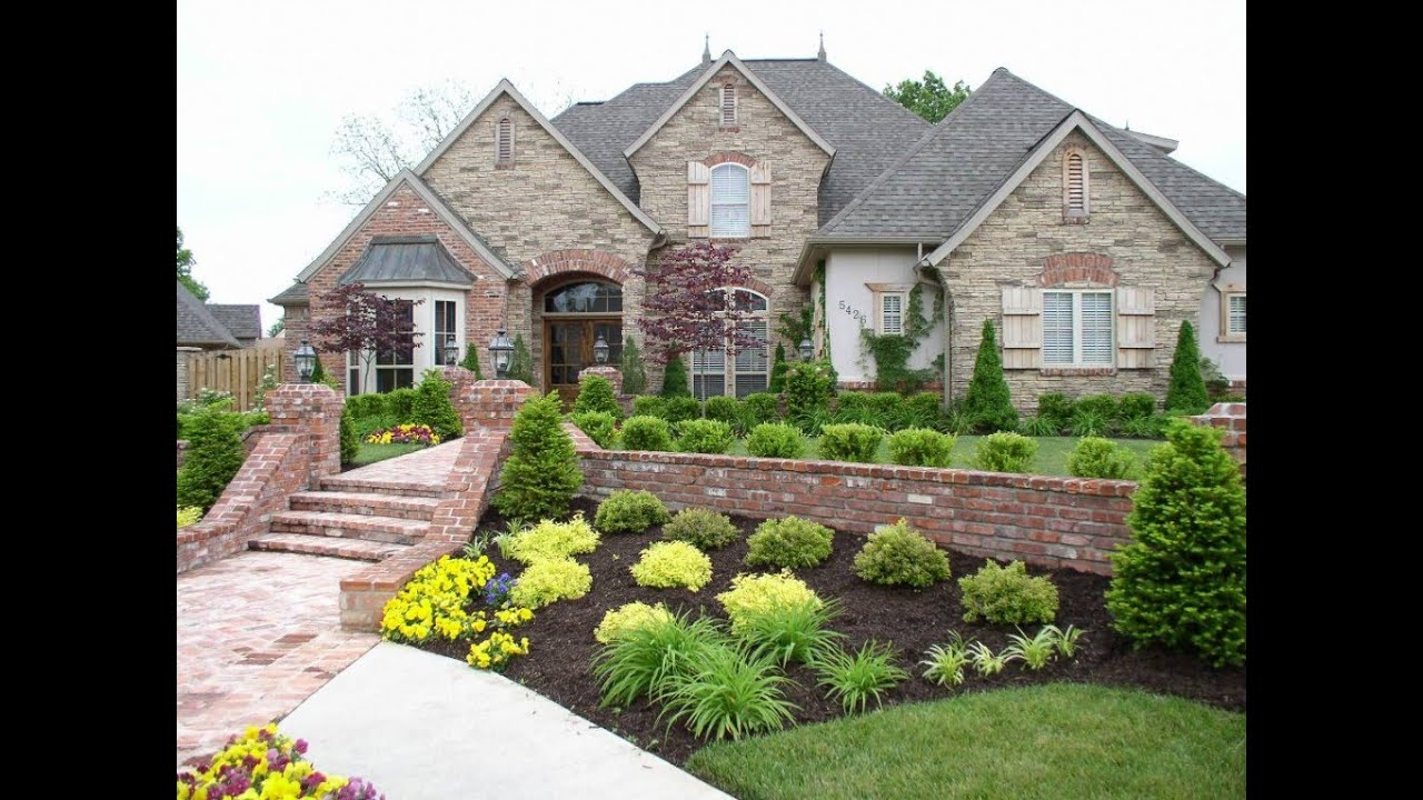Front Yard Landscape Design Ideas Pictures Part - 42: Cheap Landscaping Ideas - Low Maintenance Landscaping Ideas - YouTube