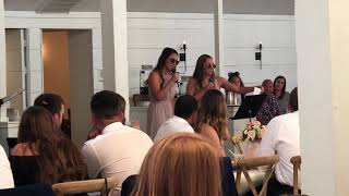 Parker wedding- MOH speech/song by the bride's sisters