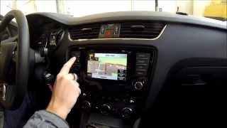 NIK-VWZ01 Navigations-Nachrüstung in einem Skoda Octavia mit Musiksystem Bolero