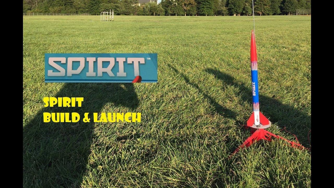 Estes Spirit Model Rocket Build & Launch - B & C Motors