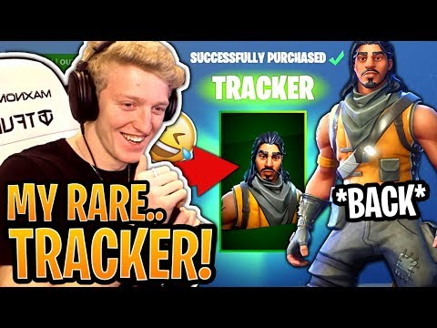 """Tfue BUYS and Loves His *RARE* """"Tracker"""" Skin! (SEASON 1 SKIN) - Fortnite Best and Funny Moments"""