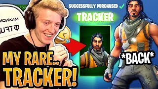 "Tfue ACHÈTE et aime sa peau ""Tracker"" 'RARE'! (SEASON 1 SKIN) - Fortnite Best and Funny Moments"