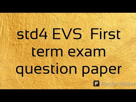 STD 4 EVS First term exam question paper