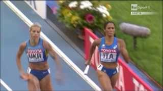 Camp. del Mondo - Mosca -  Finale 4x400m Donne - Bazzoni,Milani,Spacca,Grenot
