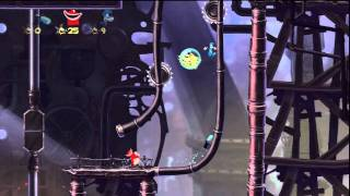 Rayman Origins -- Playthrough Part 11/12 -- Moody Clouds with 3-players