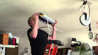 Garage Lighting Project  Can Light Install  YouTube