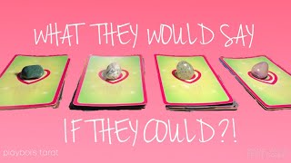 WHAT WOULD THEY SAY IF THEY COULD?! PICK A CARD LOVE TAROT 2019 TIMELESS