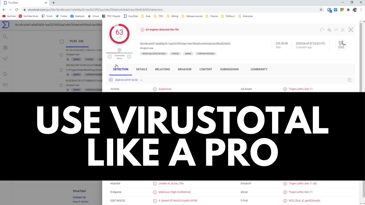Advanced VirusTotal Tutorial | Learn Cybersecurity