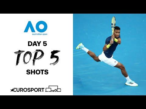 Top 5 shots - Day 5  | Australian Open 2021 - Highlights | Tennis | Eurosport